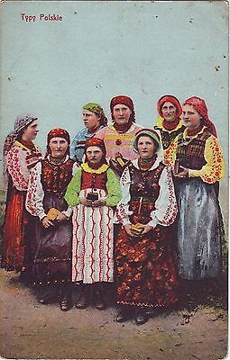 Poland - Native Country Women Costume Dress old postcard