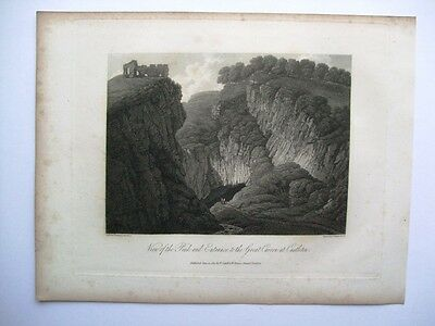 View of Peak and Entrance to the Great Cavern at Castleton (1817)