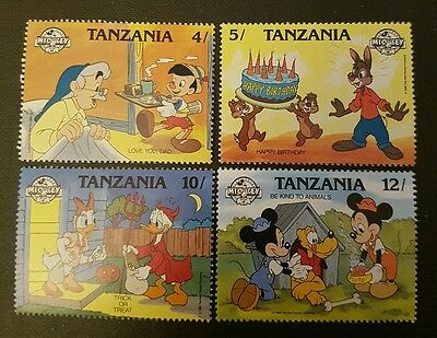 Tanzania mint stamp set Walt Disney