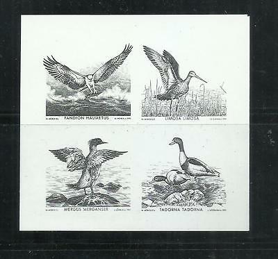 Lithuania 1992 Baltic Birds Proofs hard to find