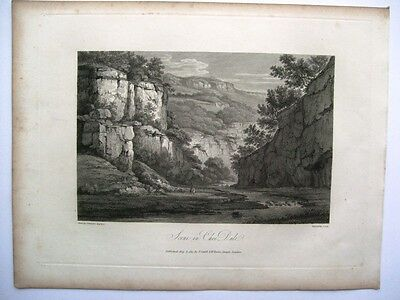 Scene in Chee Dale (Cadell and Davies, 1817)