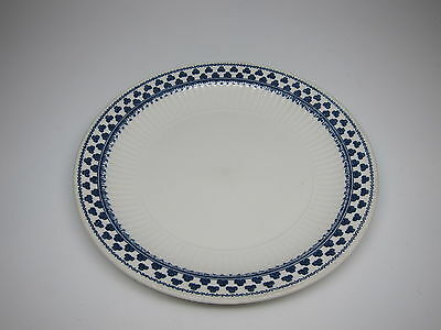 """ADAMS Brentwood Blue Clover Ironstone 8"""" Inch Lunch Salad Plate + extra one free"""
