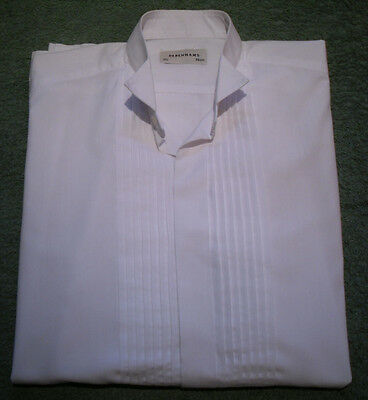 Pleated front wing collar formal shirt Size 15.5""