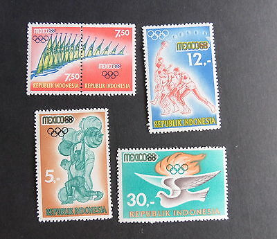 Indonesia 1968 Olympic Games Mexico SG1209/3 MNH UM unmounted mint