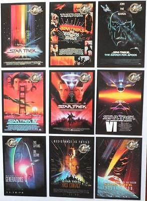 Star Trek CINEMA 2000 Movie Posters - Complete CHASE Card Set P1-P9