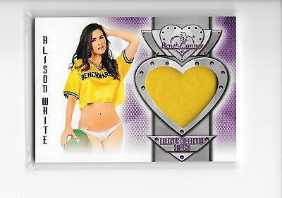 2016 Benchwarmer Eclectic Series 2 Alison Waite Yellow Swatch Relic