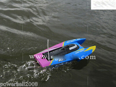 New Blue Length 39.5CM Remote Control Boat Speedboat Rowing Boat Model Gift Toys