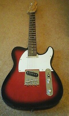 Cheetah Red Electric Guitar.Telecaster Style.VGC.