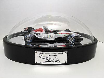 Autosport Awards 2006 table centre, SIGNED Jenson Button, 1:18 BAR Honda 1st win