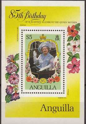 Anguilla:1985:85th Queen Mother Birthday $5,in Min/Sheet.MNH.