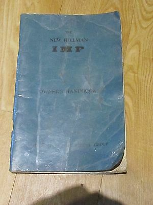The New Hillman Imp - Owners Handbook - Rootes Group 1964 - Used