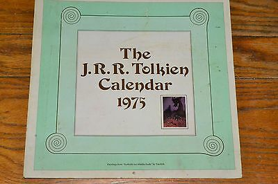 1975 JRR Tolkien Calendar The Hobbit Lord of the Rings Paintings by Tim Kirk