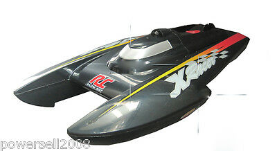 New Black Length 39.5CM Remote Control Boat Speedboat Rowing Boat Model Gift Toy