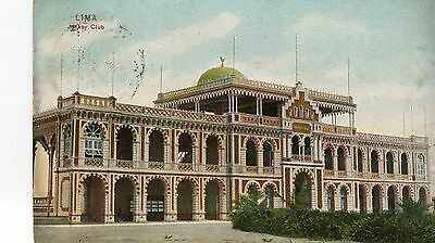 Peru Lima - Jockey Club old postcard