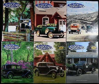 6 Issues The Restorer the Magazine for Model A Ford Enthusiasts Complete 2012