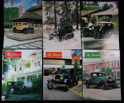 6 issues The Restorer the Magazine for Model A Ford Enthusiasts Complete 1982