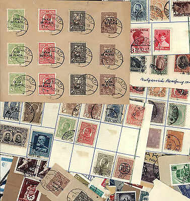 """Romania collection on pages and a nice cover with """"Taxa De Plata"""" Overprints"""