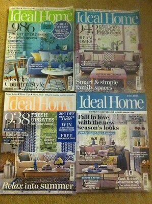 4 X Ideal Home Magazines - July August September October 2016 issues
