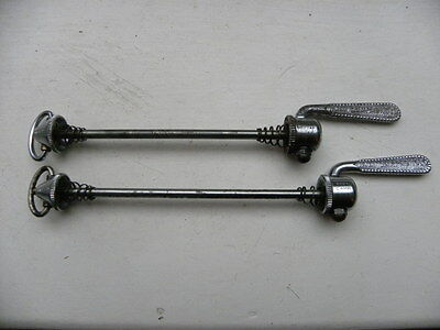 Campagnolo Nuovo Record Vintage bike skewers F/R  Straight Levers - 531