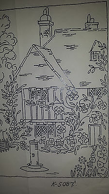 Vintage Robin Embroidery Country Cottage Transfer Pattern K-5087