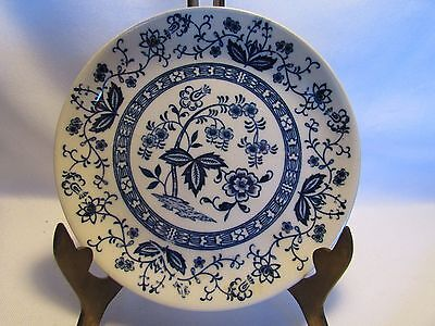 Vintage Blue Onion Plate Or Shallow Dish Japan