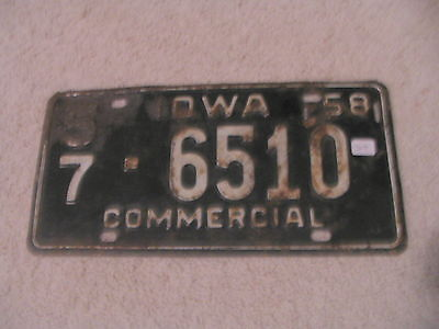 1958 Iowa Vintage Commercial License Plate