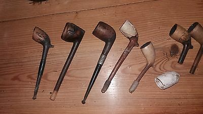 Vintage Pipes and Stand