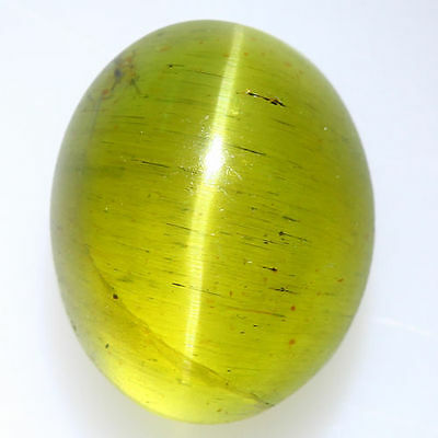 5.530 Ct Natural Very Rare Green Brown Honey Apatite Cat's Eye!!! Rare To Find!!