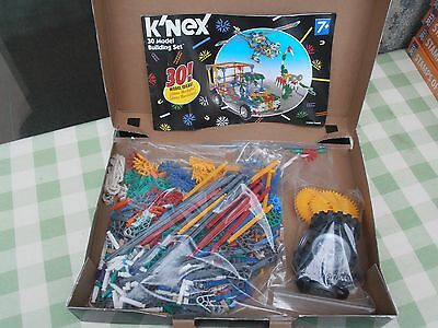 Knex k'nex 30 model building set boxed with booklet of building ideas