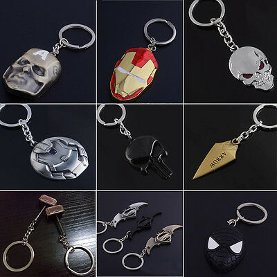 Super Hero Film The Avenger Captain America Shield Metal Keyring Keychain Gifts