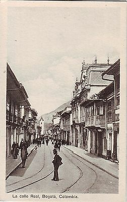 Colombia Bogota - La Calle Real old unused postcard