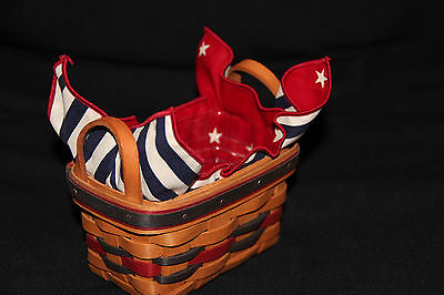 Longaberger 1993 All America Trio Basket Protector Liner Product Card