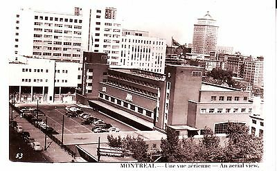 Canada Montreal Central Railway Railroad Station 1952 real photo sepia postcard