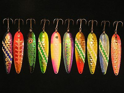 New Mag Salmon Steehead Walleye Trout Trolling Spoons Downrigger Fishing Lures