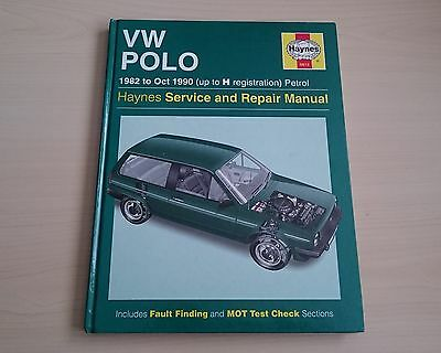 VW Volkswagen POLO  1982 1990 petrol - HAYNES OWNERS WORKSHOP MANUAL