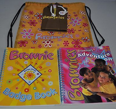 Girlguiding Brownies Sling Bag Badge Book Adventure On Book And Note Book