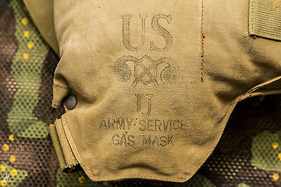 Original US Army Military WWII Gas Mask  Bag