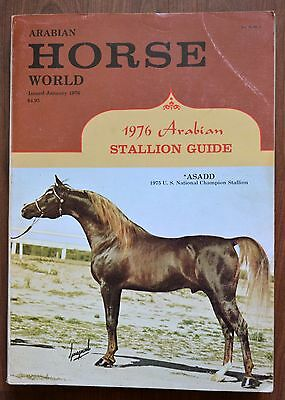 Arabian Horse World Magazine Vintage 1976 Arabian stallion guide Asadd