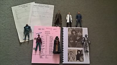 Dr. Who  Script,  Action Figures And Scrapbook.