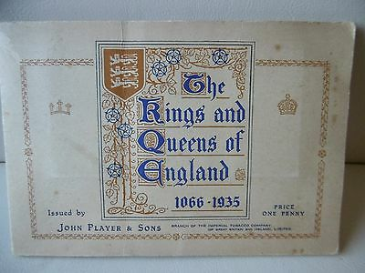 """John Player Complete Set Cigarette Cards In Album """"kings & Queens Of England"""""""