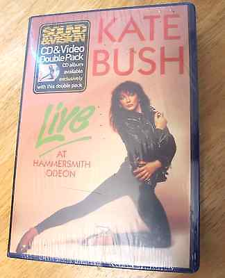 Kate Bush Live Hammersmith Odeon Double Pack vhs & cd STILL SEALED Perfect cond!
