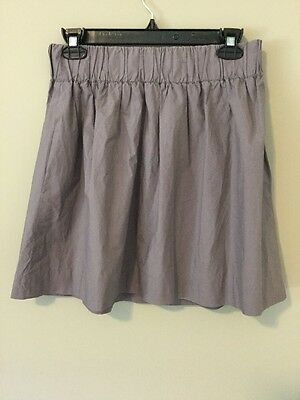 J. Crew Women Purple Full Circle Elastic Waist Skirt with Pockets Size 2