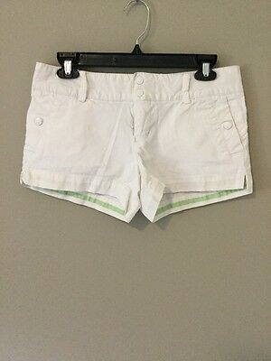 American Eagle Outhfitters Women Stretch Off White Shorts Size 4