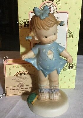 Memories of Yesterday Mommy I Teared It Event Figurine 1987 - 1997 10th Anniv
