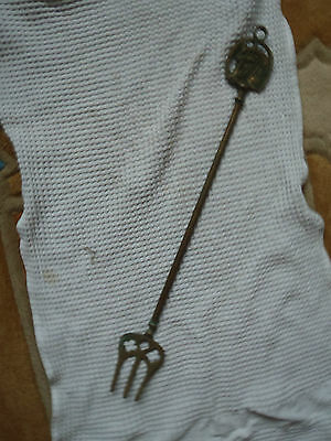 Vintage Brass Toasting Fork: Horse Head