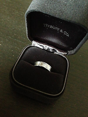 Tiffany and Co. Platinum five row band ring size 6