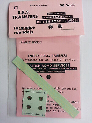 BRS British Road Services letters & turquoise roundalls OO Scale Waterslide T1