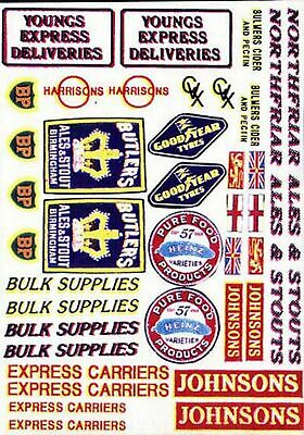 Lorry decals set 2 Water-slide Transfers - OO Scale 1:76 Model Decals. T4