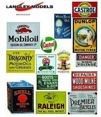 Workshop Adverts Med Paper Reproductions of old Enamel Signs OO Scale SMF27n