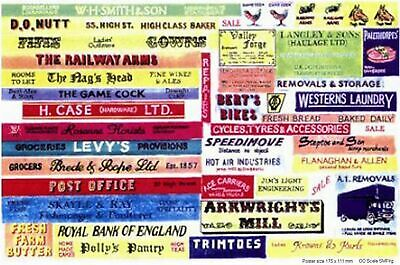 Shop pub name signs small Paper Copies Old Enamel OO Scale Decals SMFsm